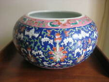 ANTIQUE CHINESE FAMILLE ROSE FISH BOWL QING DYNASTY TONGZHI PERIOD C 1861-1875