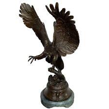 "Jules Moigniez ""Eagle"" bronze sculpture 15 Inch Marble Base"