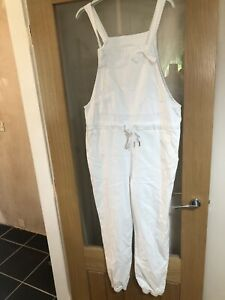 MADE IN ITALY LAGENLOOK Size 12/16 White Tie Side Dungerees
