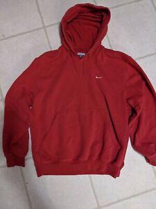 VTG Nike Hoodie Pullover Red Jacket Gray Tag Men's LG Swoosh Read Discription
