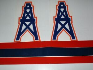 HOUSTON OILERS FULL SIZE FOOTBALL DECALS
