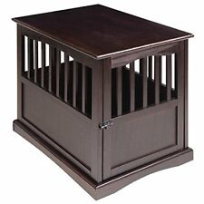 Indoor Dog Kennel Pet Crate End Table Wooden Cage Cat House Wood Pen Furniture