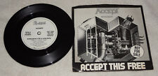 45 : Accept - Metal Heart (1985) Midnight Mover / Screaming for a Love Bite PS