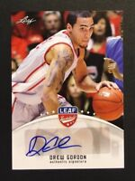 Drew Gordon Signed 2012 Leaf Auto Autograph Card #BA-DG2