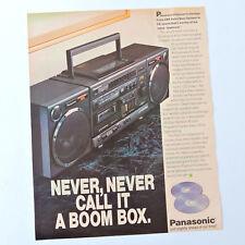 PANASONIC RX-DS650 / Advert Publicidad Publicite Reklame Pubblicita Portable CD