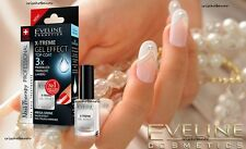 NEW EVELINE X-TREME GEL EFFECT TOP COAT NAIL POLISH HARDENER MEGA SHINE LIQUID