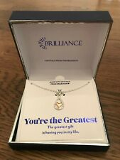 NEW 18 Inch Brilliance Heart Necklace - Made w/ Swarovski Crystals - MSRP = $50