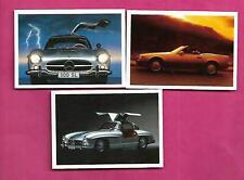 3 X 1991 PANINI MERCEDES DREAM CARS  CARD  (INV# C4041)