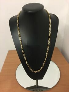 "28"" chunky large link yellow gold plated necklace chain"