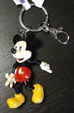 Disney Parks Mickey Mouse Articulated Keychain Key Ring - New