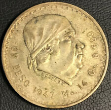 1947 MEXICO SILVER PESO COIN