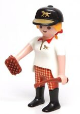 Playmobil Figure Horse Farm Equestrian Female Jockey w/ Hat Brush Whip 4191 5877