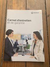 Carnet D Entretien Renault D Origine Neuf Et Vierge