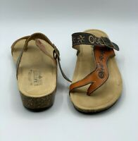 NEW L'Artiste by Spring Step Women's Sz 36 6 Lonian Brown Orange Leather Sandals