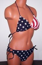 USA FLAG BIKINI - AMERICAN SWIMSUIT - NEW 2 pc. - size SMALL - STARS & STRIPES