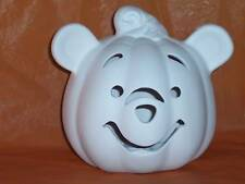"Ceramic Bisque Ready to Paint Pooh  Pumpkin 6"" tall electric included"
