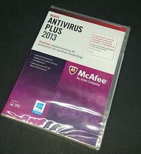 McAfee Antivirus Plus 2013 Plus 1 PC  Retail Box Disc