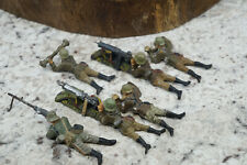 Lot 6 Lineol Prewar Composition German Soldiers Machine Gun Crew Elastolin