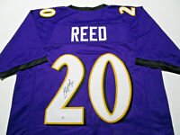 ED REED / NFL HALL OF FAME / AUTOGRAPHED BALTIMORE RAVENS CUSTOM JERSEY / COA