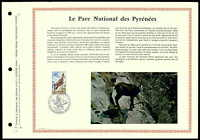 FRANCE CEF 1971 NATIONALPARK PYRENÄEN GÄMSE GEMSE ISARD LTD. ONLY 1.000 !! zc12
