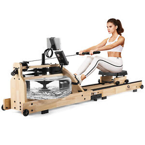 Foldable Water Rowing Machine Cardio Training Workout Equipment Home Exercise