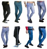 Mens Super Skinny Jeans Slim Fit Ripped Stretch Frayed Denim Pants All Waists Le