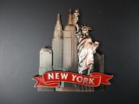 New York Metall Magnet 6 cm,Freiheitsstatue,Empire,Chrysler,New