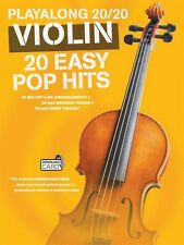 Play Along 20 20 Violin 20 Easy Pop Hits Book Audio Online NEW 014043737