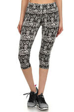 Women Printed Stretch Capri Leggings Yoga Pants for Gym Fitness Workout Wear