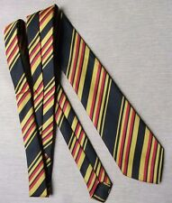 BLACK RED GOLD STRIPED SKINNY SLIM MOD TIE VINTAGE COLLEGE STYLE UNUSED NEW