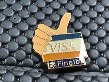 pins pin OLYMPIC JO ALBERTVILLE 92 OLYMPIQUE SPONSOR VISA FINALBA BANK