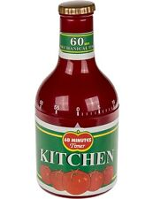 Küchen-Timer Eieruhr Kurzzeitwecker Küchenuhr Ketchup Flasche 60 Min Kochwecker