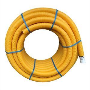 Drainagerohr ungeschlitzt DN80, Drainageschlauch ungelocht DN80 PVC gelb 80mm