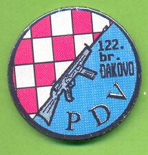 CROATIA ARMY  HV  122 Brigade - PDV anti-sabotage squad,breast badge from 1991