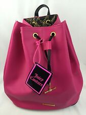 JUICY COUTURE PARFUMS Pink Backpack Travel Bag Purse NEW