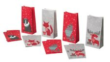 New IKEA Vinter 2017 Moose Elk Fox Wolf Bear Christmas Candy Cookie Bags 12pack