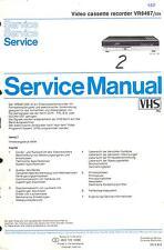 Philips  Original Service Manual für  VR 6467