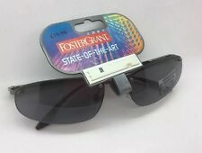 FOSTER GRANT GREY WRAP SUNGLASSES MAXIMUM UV PROTECTION GREY LENS BNWT 34063