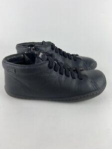 Camper Shoes boys EU 32, US 1 Pursuit Kids Sneakers Blue lace zip school