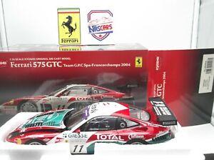 1:18 KYOSHO Ferrari 575 GTC #11 2004 Team G.P.C Spa-Francorchamps (no Elite)