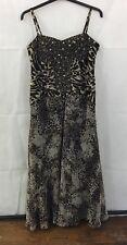 M&S Per Una Speziale Size 12R Animal Print Gem Detail Maxi Dress