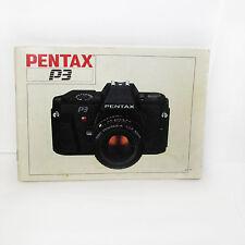 PENTAX P3 Caméra Instruction Manuel Utilisateur Guide 1985 48 Pages Anglais