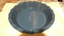 """New EMILE HENRY FRANCE 9"""" ROUND RUFFLED PIE OR QUICHE DISH BLEU PAVOT 61.31"""
