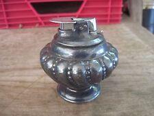 """Ronson """"Varaflame Crown"""" Tabletop Lighter, Made in Woodbridge, NJ, Vtg.Heavy Met"""