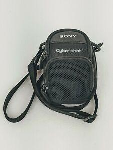 OEM Sony Cybershot Black Soft Cloth Camera Case w/ Shoulder Strap