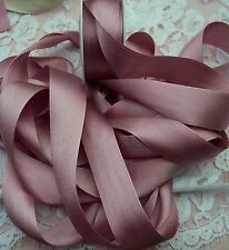 "100% PURE SILK /SATIN RIBBON ~ANTIQUE/ROSE ~COLOR 6  YD SPOOL 1"" [25MM] WIDE"