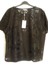 Phase Eight Black Teela Broidery Floral Top. UK 18 EUR 44-46 US 14 Lovely