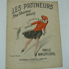 piano music WALDTEUFEL skaters waltz - les patineurs ,  10 pages