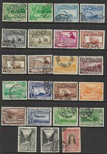 Peru Scott #C16 // #C39 (no number C28) used Airmail set 1936-37, f/vf sound