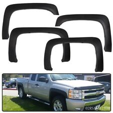 PP Fit For 07-13 Chevy Silverado 1500 2500HD/3500HD Fender Flares Textured Black